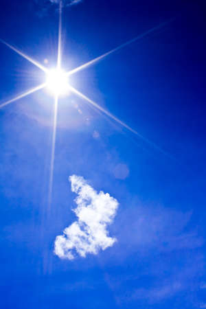 Beautyful blue sky with  cloud and sun,may be used as background Stock Photo - 11552062