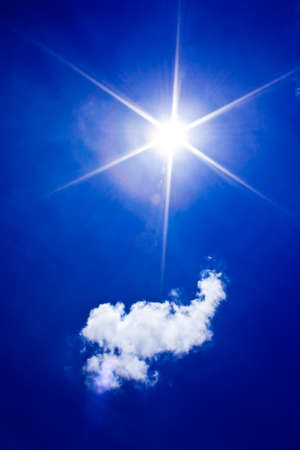 Beautyful blue sky with  cloud and sun,may be used as background Stock Photo - 11552058