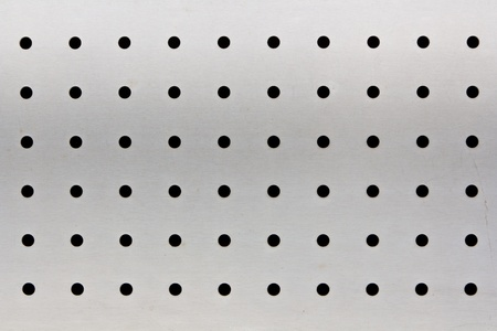 Metal plate with holes photo