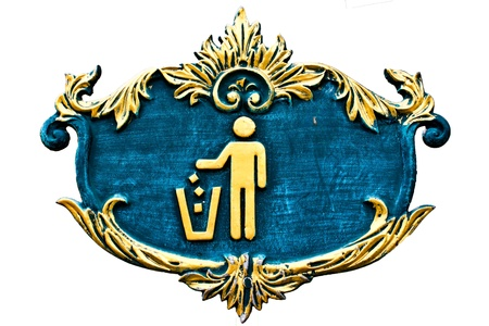 violator: Figure of person throwing garbage into a trash can