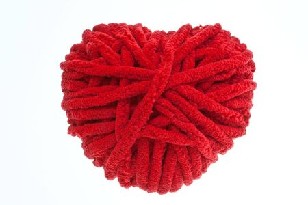 Red heart  valentine symbol isolation on white Stock Photo - 12332820