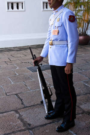 grand pa: The king Guard, in the Grand Palace,Thailand Editorial