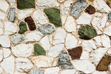 Various colors seamless stone wall texture Stock Photo - 14637259