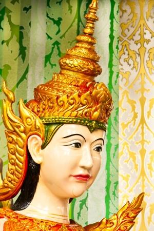 Face of Thai dancing girl sculpture close up Stock Photo - 14715857