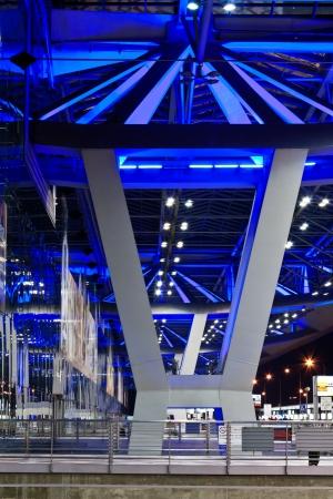 BANGKOK - JAN 19  Suvarnabhumi Airport , designed by Helmut Jahn is the world