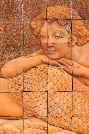 The little beautiful mermaid made from earthenware Stock Photo - 16525595