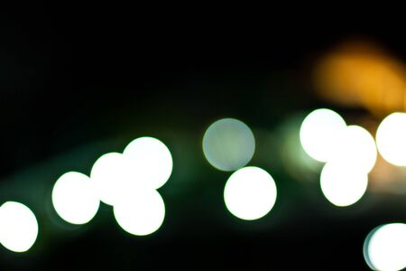 Bokeh Lights in the city coloured spots of light photo