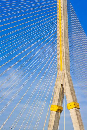viii: Rama VIII Bridge, Suspension bridge in Bangkok, Thailand Stock Photo