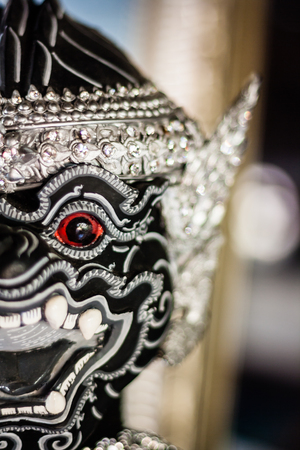 dance drama: Khon mask used in Thai traditional dance of the Ramayana dance drama in Thailand