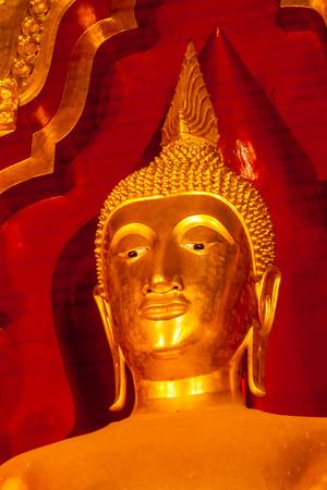 Golden Buddha statue in the church, Thailand