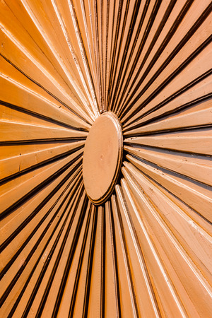 Close up radius wood decoration for background used