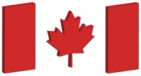 unification: three dimensional perspective of Canadas national flag