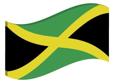 jamaican: 3d waving flag of Jamaica Stock Photo