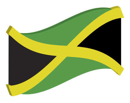 unification: 3d abstract flag of Jamaica