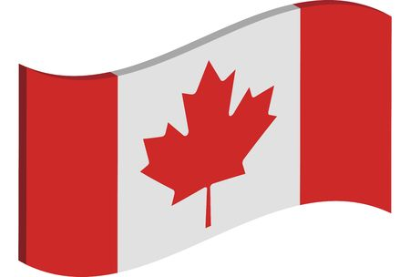 raise the white flag: waving three dimensional perspective of Canadas national flag