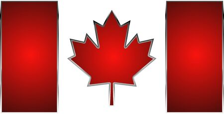 illuminated flag of Canada