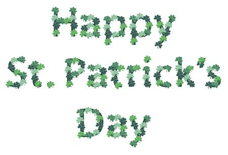illustration of St. Patricks Day sign lined in shamrocks
