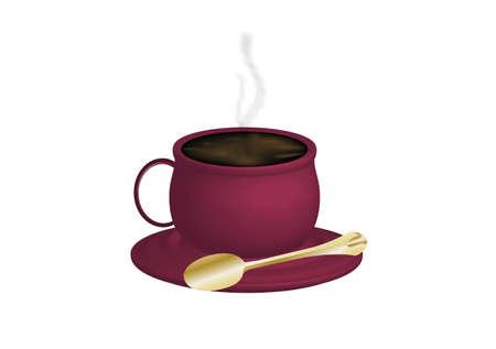 expresso: illustration of espresso coffee on white background Stock Photo
