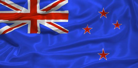 illustration of waving New Zealander flag close up illustration