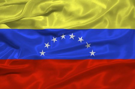 illustration of waving Venezuelan Flag close up