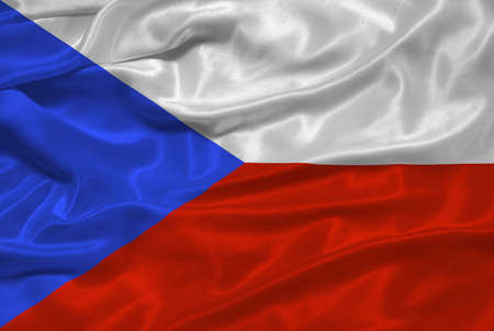 illustration of waving Czech Flag close up
