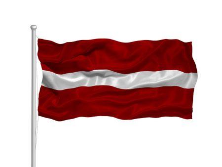 Ilustración de agitar letón Bandera en blanco  Foto de archivo - 2934833