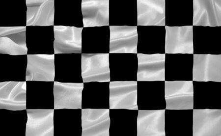 illustration of waving black and white checkered flag