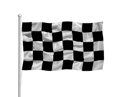 checker: illustration of black and white checkered flag