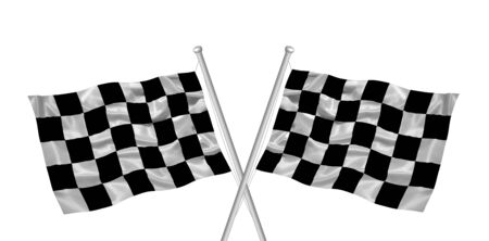 illustration of black and white checkered flags illustration