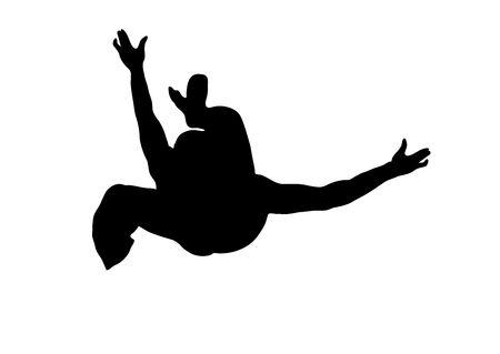 illustration silhouette of street dancer on white background Stock Illustration - 3380953