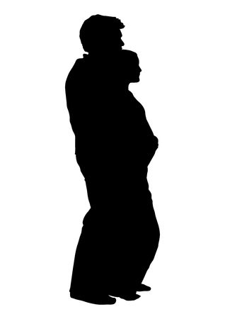 silhouette of couple expecting a Stock Photo - 3694765