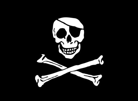 flat: illustration of flat pirate flag Stock Photo