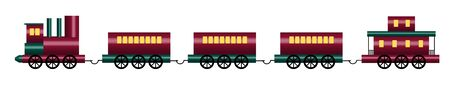 boxcar: illustration of shiny toy train on white Stock Photo