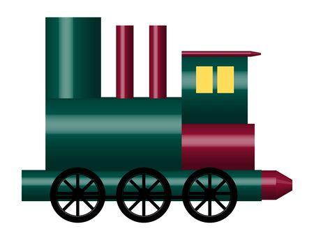 boxcar: illustration of of shiny toy train on white