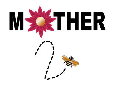 mother to be: illustrato segno della madre di essere su bianco