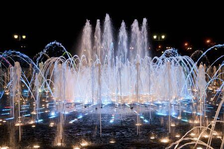 tsaritsino: Night fountain in Tsaritsino