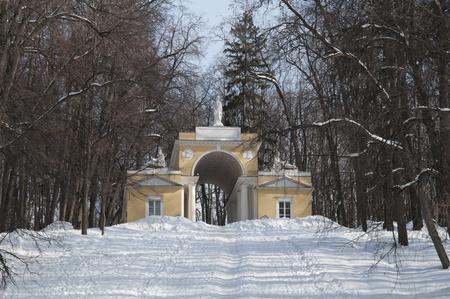 Pavilion in Tsaritsino park, Moscow Stock Photo - 13022253