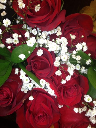 Beautiful bouquet of roses to brighten the day
