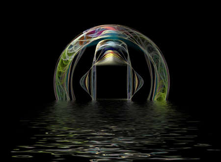 Futuristic Gateway, frame or portal for use as product frame, or logo