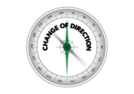 new direction: change of direction Illustration