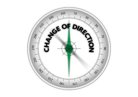 change of direction Illustration