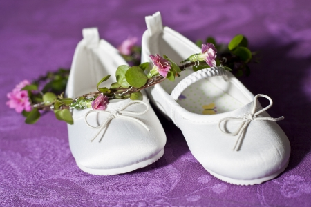 12 15 months: Baby Shoes Stock Photo