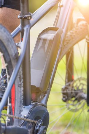 Close up of battery of an E-Mountainbike Stock Photo - 74957880