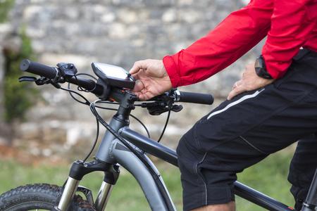 최신 Ebike, E-Mountainbike의 온보드 디스플레이