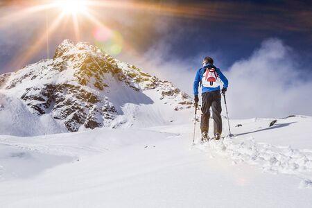Skitourengeher beim Aufstieg