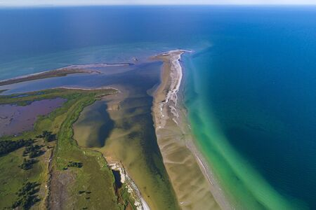 Baltic sea, Germany, Mecklenburg-Western Pomerania, Darß, Prerow, aeriel view of seaside Standard-Bild