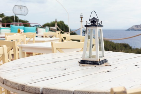 lunch table: Your table in the restaurant with sea view