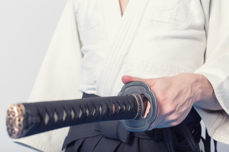 bushido: Hands holding the Katana