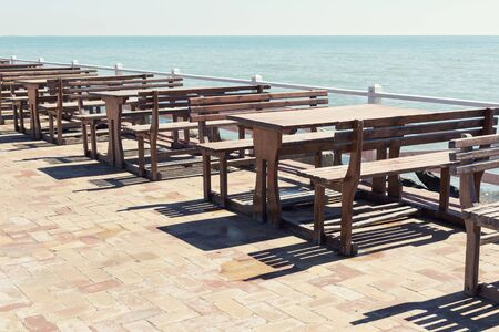 blue fish: A seafront in sunny day