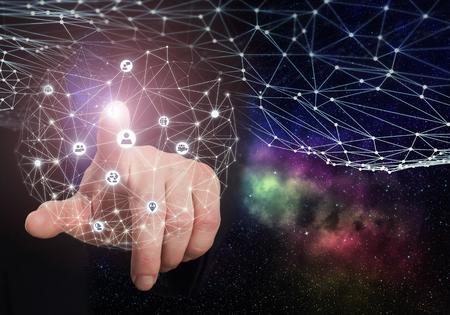 international internet: Global connection concept